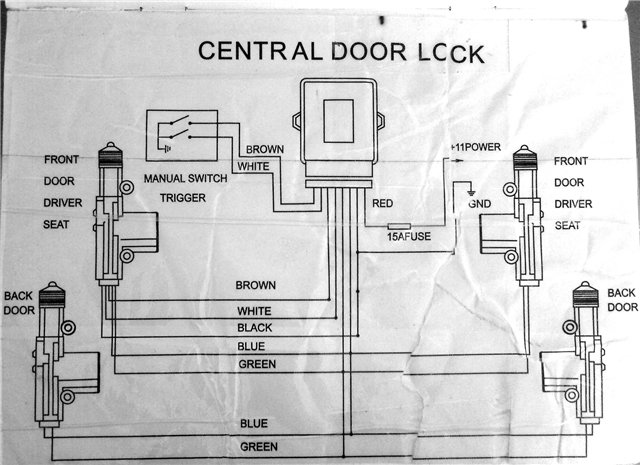 Схема центрального замка на