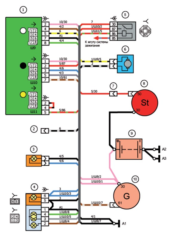 Скачать электросхема инжектора