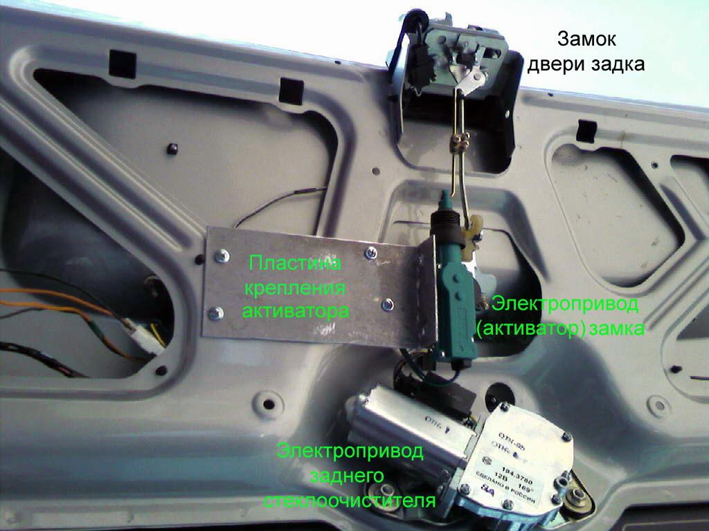 Как открывается багажник калины