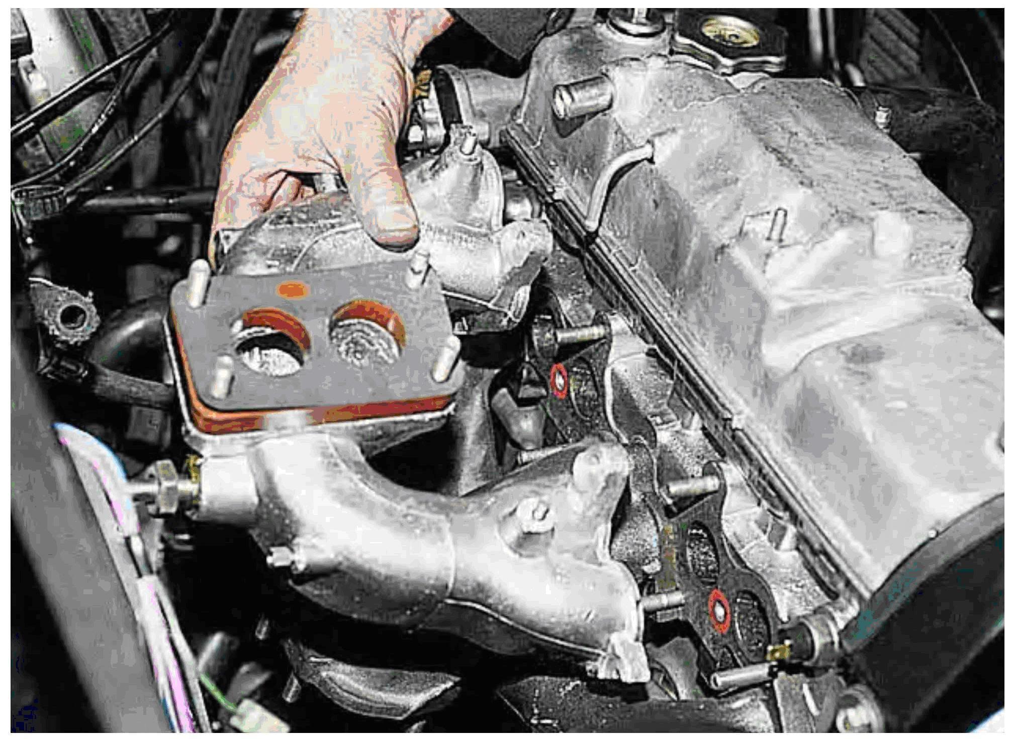 Фото №21 - замена прокладки коллектора ВАЗ 2110